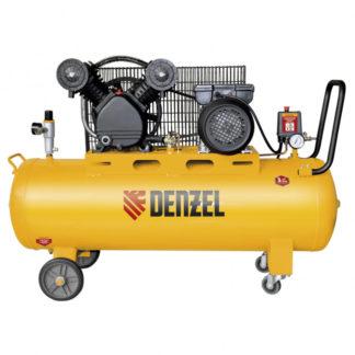Компрессор Denzel DRV2200/100, масляный ременный, 10 бар, производительность 440 л/м, мощность 2,2 кВт