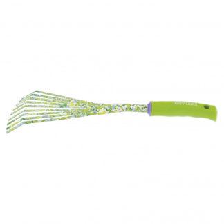Грабли веерные 9-зубые, 75 х 385 мм, стальные, пластиковая рукоятка, Flower Green Palisad