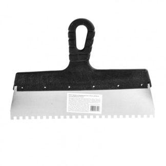 Шпатель из нержавеющей стали, 300 мм, зуб 6 х 6 мм, пластмассовая ручка Sparta