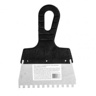 Шпатель из нержавеющей стали, 150 мм, зуб 6 х 6 мм, пластмассовая ручка Sparta