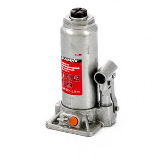Домкрат гидравлический бутылочный, 6 т, h подъема 216-413 мм, в пластиковом кейсе Matrix