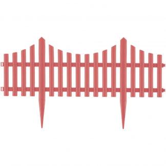 "Забор декоративный ""Гибкий"", 24х300 см, коралловый, Россия Palisad"