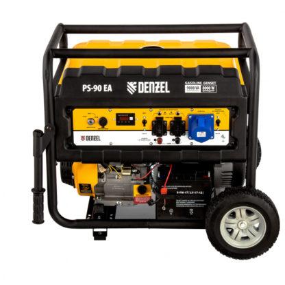 Генератор бензиновый Denzel PS 90 EA, 9.0 кВт, 230В, 25 л, коннектор автоматики, электростартер