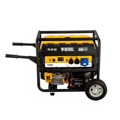 Генератор бензиновый Denzel PS 55 EA, 5.5 кВт, 230 В, 25 л, коннектор автоматики, электростартер