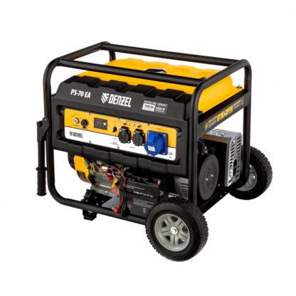 Генератор бензиновый Denzel PS 70 EA, 7.0 кВт, 230 В, 25 л, коннектор автоматики, электростартер