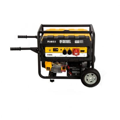 Генератор бензиновый Denzel PS 80 E-3, 6.6 кВт, 400 В, 25 л, электростартер