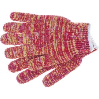Перчатки трикотажные усиленные, гелевое ПВХ-покрытие, 7 класс, красно-желтый меланж Россия Сибртех