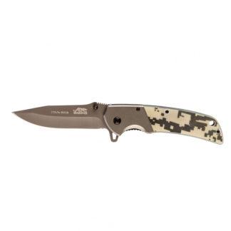 Нож туристический, складной, 220/90 мм, система Liner-Lock, с накладкой G10 на рукоятке Барс