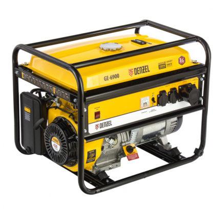 Генератор бензиновый Denzel GE 6900, 5.5 кВт, 220 В/50 Гц, 25 л, ручной старт