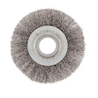 Щетка для УШМ, 100 мм, посадка 22,2 мм, плоская, витая проволока 0,3 мм Сибртех