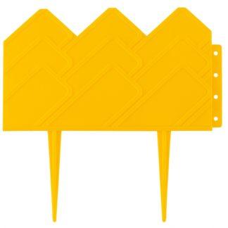 """Бордюр """"Кантри"""", 14х310 см, желтый, Россия Palisad"""