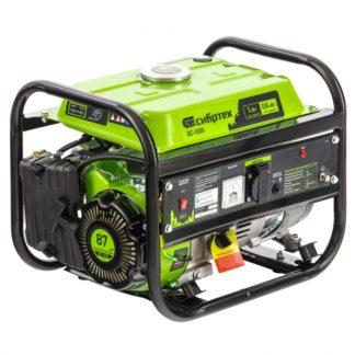 Генератор бензиновый Сибртех БС-1200, 1 кВт, 230 В, четырехтактный, 5,5 л, ручной стартер