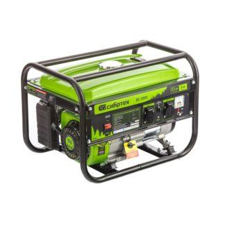 Генератор бензиновый Сибртех БС-2500, 2,2 кВт, 230В, четырехтактный, 15 л, ручной стартер