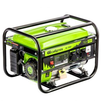 Генератор бензиновый Сибртех БС-3500, 3,2 кВт, 230В, четырехтактный, 15 л, ручной стартер