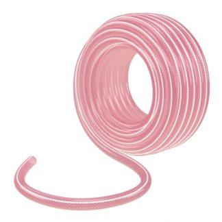 Шланг эластичный 3/4″, 15 м, прозрачный розовый Palisad