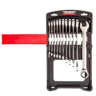 Набор ключей комбинированных, трещоточных 11 шт. Matrix