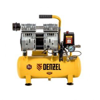 Компрессор Denzel DLS650/10 безмаслянный малошумный 650 Вт, 120 л/мин, ресивер 10 л