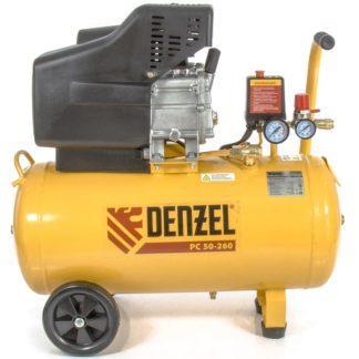 Компрессор воздушный Denzel PC 50-260, 1,8 кВт, 260 л/мин, 50 л, 10 бар