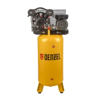 Компрессор Denzel DRV2200/100V, масляный ременный, с вертикальным ресивером, 10 бар, производительность 440 л/м, мощность 2,2 кВт
