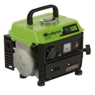 Генератор бензиновый Сибртех БС-950, 0,8 кВт, 230 В, 2-х тактный, 4 л, ручной стартер