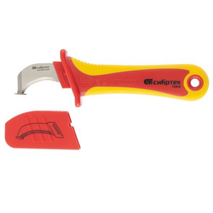 Нож диэлектрический до 1000 В, для снятия оплетки электрокабелей Сибртех