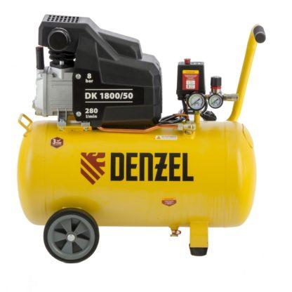 Компрессор воздушный Denzel DK1800/50, Х-PRO 1,8 кВт, 280л/мин, 50л