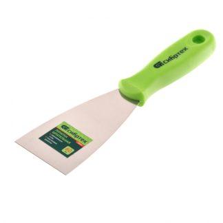 Шпательная лопатка из нержавеющей стали, 60 мм, пластмассовая ручка Сибртех