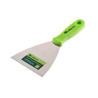 Шпательная лопатка из нержавеющей стали, 100 мм, пластмассовая ручка Сибртех