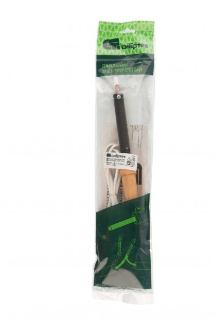 Паяльник электрический ЭПСН-03-65/220, деревянная ручка, Россия Сибртех