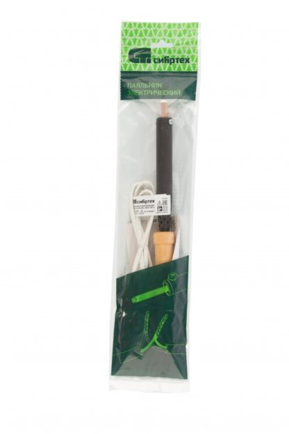 Паяльник электрический ЭПСН-03-80/220, деревянная ручка, Россия Сибртех