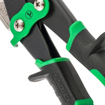 """Ножницы по металлу """"Piranha"""", 270 мм, прямой и правый проходной рез, сталь СrMo, двухкомпонентные рукоятки Gross"""
