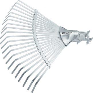 Грабли веерные стальные, 450 мм, 22 плоских зуба, регулируемая тулейка, без черенка, Palisad