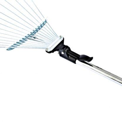 Грабли веерные стальные, 190-520 х 1200-1500 мм, 15 зубьев, раздвижные, стальной черенок, Palisad
