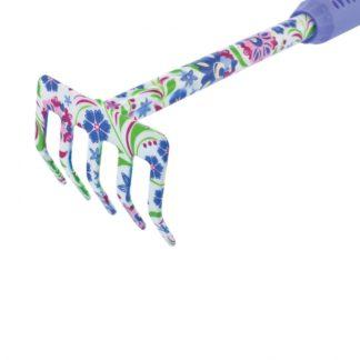 Грабли 5-зубые, 85 х 420 мм, стальные, удлиненная рукоятка, Flower Mint Palisad