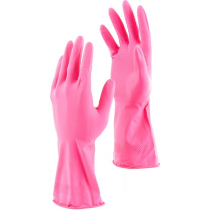 Перчатки хозяйственные латексные c хлопковым напылением, XL, Сибртех