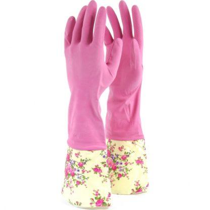 Перчатки хозяйственные латексные с манжетами, S, Сибртех