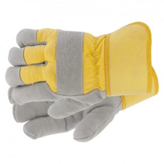 Перчатки спилковые комбинированные, усиленные, утолщенные, размер XL Сибртех