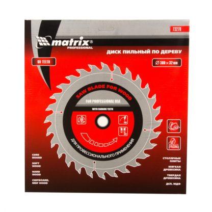 Пильный диск по дереву, 300 х 32 мм, 60 зубьев Matrix Professional