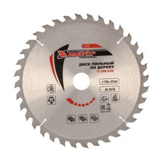 Пильный диск по дереву, 250 х 32 мм, 36 зубьев, кольцо 30/32 Matrix Professional