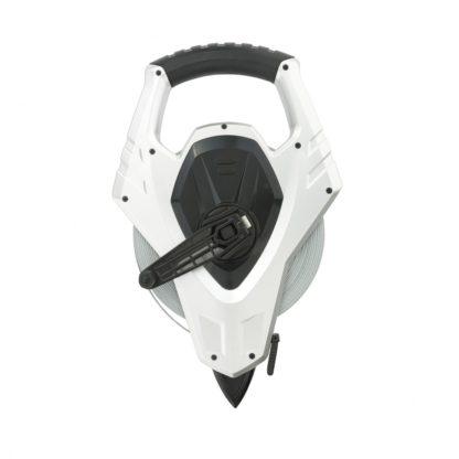 Рулетка геодезическая 50 м х 13 мм, откр. корп, металлическая лента, Super-Нейлон, двусторонняя шкала Gross